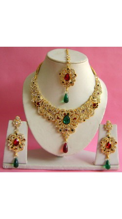 N17895 Necklace Set with Tika Necklace Set with Tika