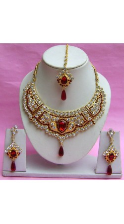 N17995 Necklace Set with Tika Necklace Set with Tika