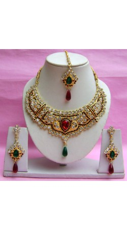 N18195 Necklace Set with Tika Necklace Set with Tika