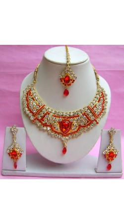 N18295 Necklace Set with Tika Necklace Set with Tika