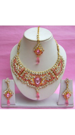 N18395 Necklace Set with Tika Necklace Set with Tika