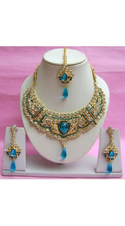 N18695 Necklace Set with Tika Necklace Set with Tika