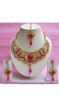 N18795 Necklace Set with Tika Necklace Set with Tika