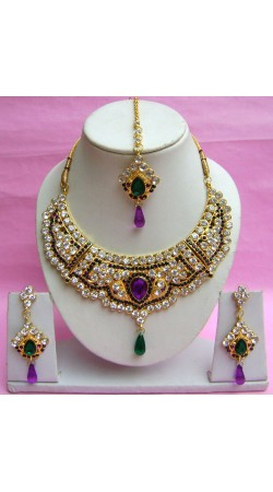 N18895 Necklace Set with Tika Necklace Set with Tika