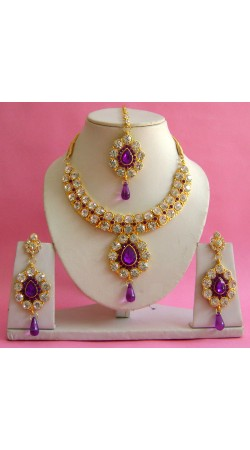 N19095 Necklace Set with Tika Necklace Set with Tika