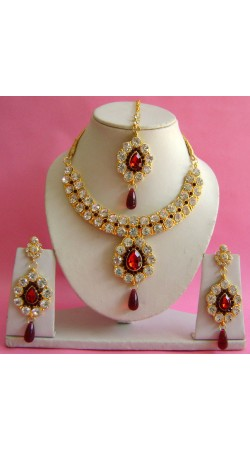 N19195 Necklace Set with Tika Necklace Set with Tika