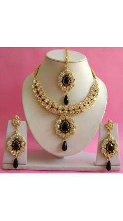 N19295 Necklace Set with Tika Necklace Set with Tika