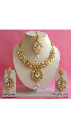N19495 Necklace Set with Tika Necklace Set with Tika