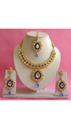 N19595 Necklace Set with Tika Necklace Set with Tika
