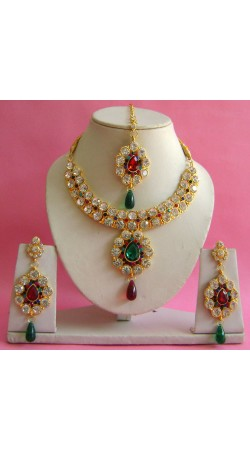 N19895 Necklace Set with Tika Necklace Set with Tika