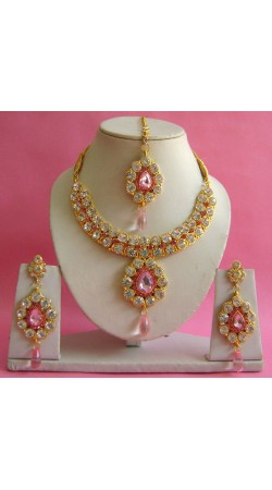 N19995 Necklace Set with Tika Necklace Set with Tika