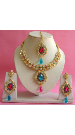 N20195 Necklace Set with Tika Necklace Set with Tika