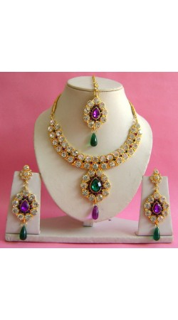 N20295 Necklace Set with Tika Necklace Set with Tika
