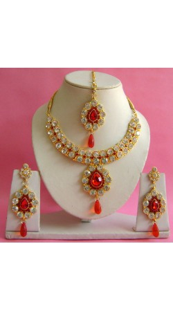 N20495 Necklace Set with Tika Necklace Set with Tika