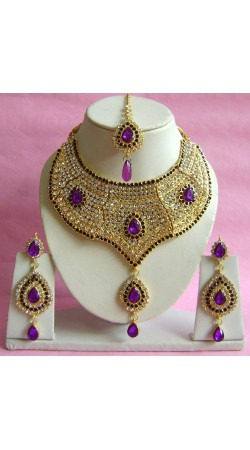 N20595 Choker Artificial Jewellery Necklace Set with Tika