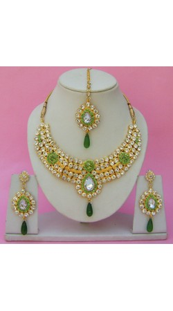 N23695 Drop Shape Necklace Set with Tika