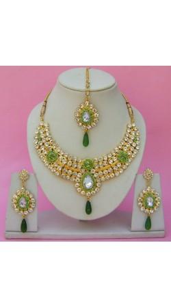 N23695 Drop Shape Necklace Set with Tika
