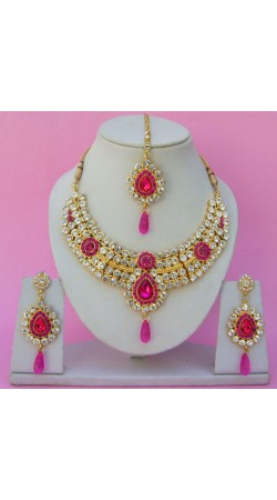 N23895 Drop Shape Necklace Set with Tika