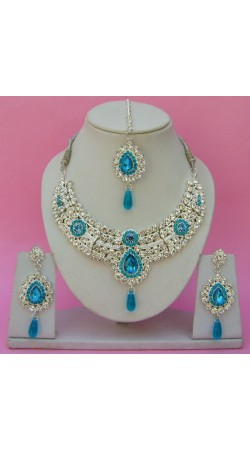 N23995 Drop Shape Necklace Set with Tika