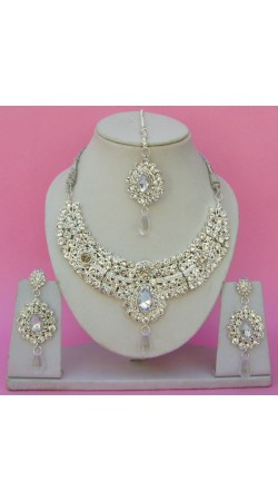 N24095 Drop Shape Necklace Set with Tika
