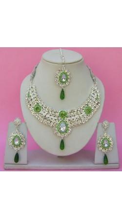 N24295 Drop Shape Necklace Set with Tika
