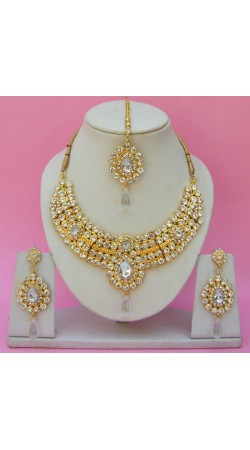 N24395 Drop Shape Necklace Set with Tika