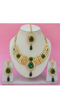 N24495 Drop Shape Necklace Set with Tika