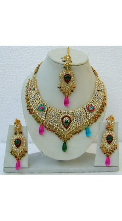 N24895 Drop Shape Necklace Set with Tika