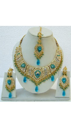 N25195 Drop Shape Necklace Set with Tika