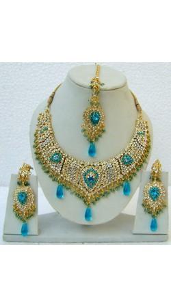 N25195 Drop Shape Necklace Set with Tika