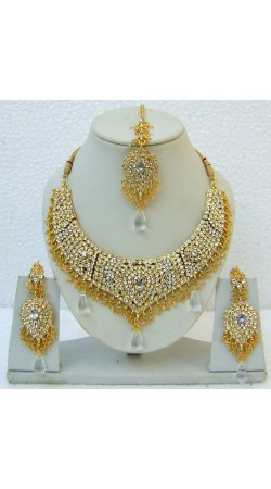 N25295 Drop Shape Necklace Set with Tika