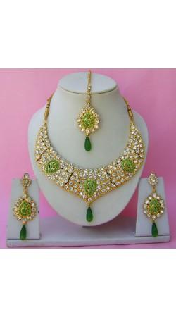 N26495 Drop Shape Necklace Set with Tika