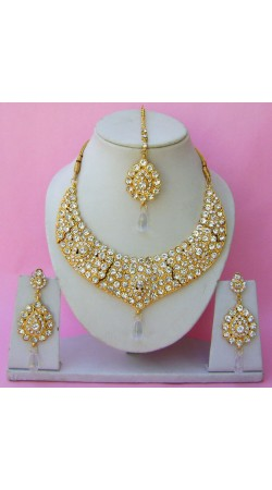 N26595 Drop Shape Necklace Set with Tika