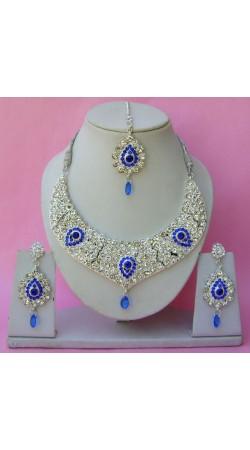 N26695 Drop Shape Necklace Set with Tika