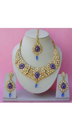 N26895 Drop Shape Necklace Set with Tika