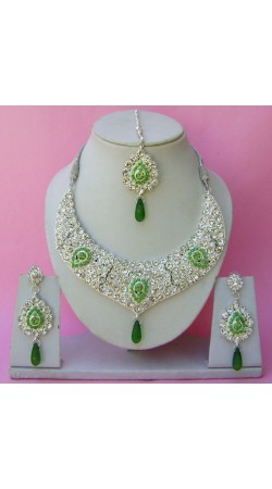 N26995 Drop Shape Necklace Set with Tika