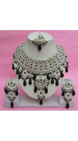 N27995 Jhoomar Style Necklace Set with Tika