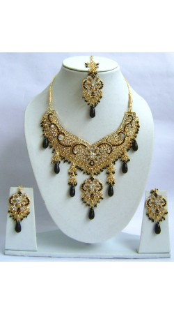 N29495 Double Pendant Necklace Set with Tika