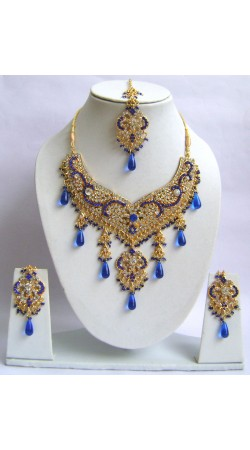 N29595 Double Pendant Necklace Set with Tika