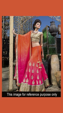 New Dimension Pink Designer Lehenga Choli With Heavy Work SM0901