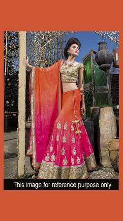 New Dimension Pink Designer Lehenga Choli With Heavy Work SM0901