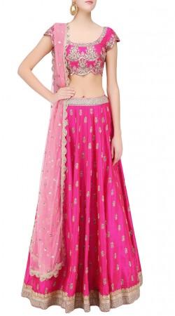 Ombre Delight Magenta Silk Designer Lehenga Choli With Dupatta SUUDL22219