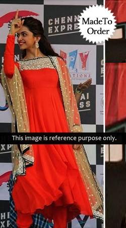 Orange Deepika Padukon Replica Bollywood Salwar Kameez 024