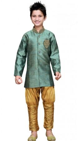 Party Wear Art Silk Boy Indo Western Sherwani GR17814