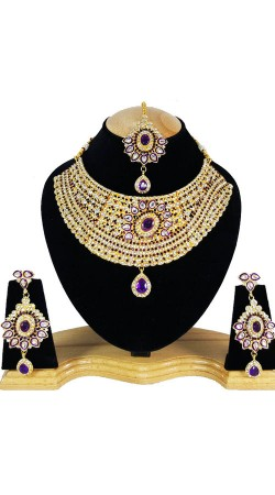 Party Wear Beautiful Necklace Set With Maang Tika NNP79705