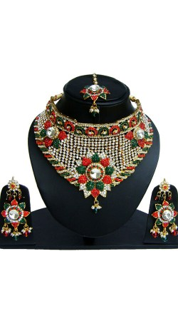 Party Wear Designer Necklace Set with Tika NNP83006