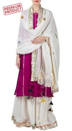 Party Wear Magenta Sharara Suit With Dupatta BP0245
