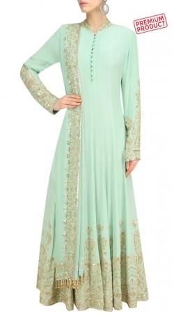 Party Wear Sea Green Floor Length Anarkali Suit SUMS31221