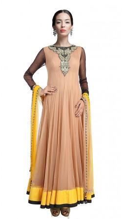 Natural Net Ankle Length Anarkali Suit SUUDS17202