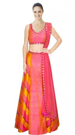 Perfect Sequins Work Pink Silk Designer Lehenga Choli SUUDL10815